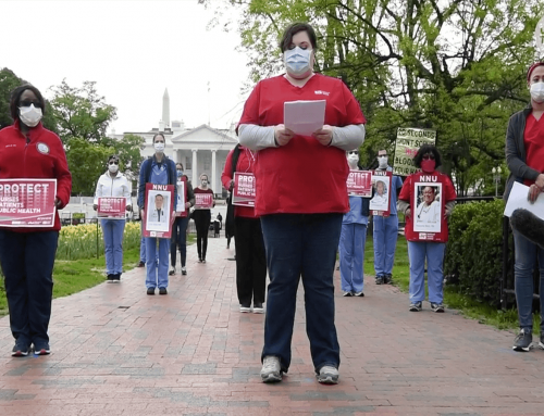 US nurses honour colleagues who lost their lives to COVID-19 in a protest at the White House