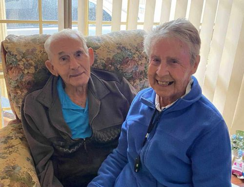 Elderly couple forced apart due to COVID-19 reunite for birthday celebrations