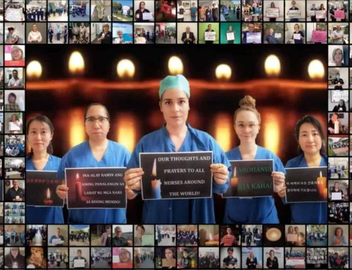 Nurses and midwives from Australia and New Zealand pay tribute to colleagues around the world who lost their lives fighting COVID-19
