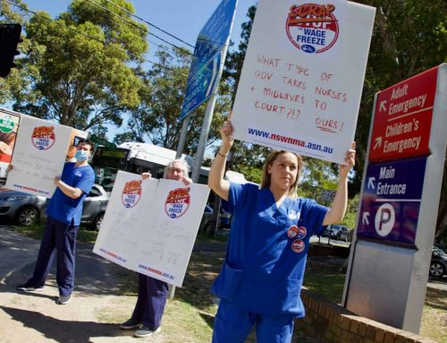 'A slap in the face': NSW nurses and midwives urge government to scrap wage freeze