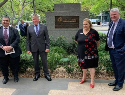 New plaque honours contribution and legacy of Australian Nurses Memorial Centre