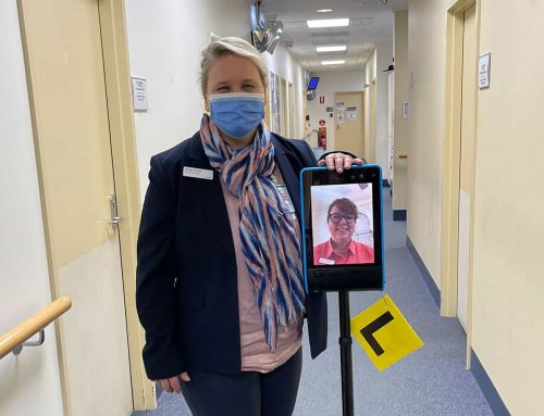 Meet 'Rosie', the robot allowing breast care nurses to access vital training from anywhere in Australia